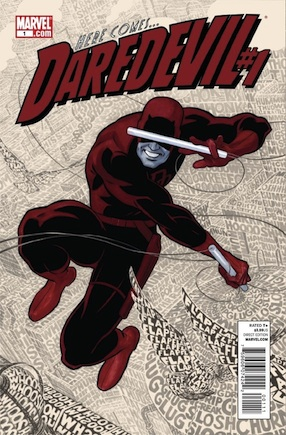 Daredevil swings across an audio-detailed cityscape