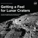 "Cover of ""Getting a Feel for Lunar Craters""-black and white moonscape"